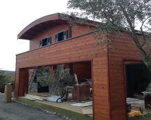 maisons bbc madriers bois massif camping le pod acheter un pod poteaux poutres maisons bois. Black Bedroom Furniture Sets. Home Design Ideas