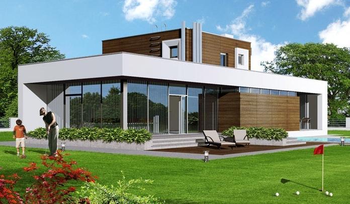 Deltawood exemples de maisons modulaire bbc ossature for Maison en kit ossature metallique