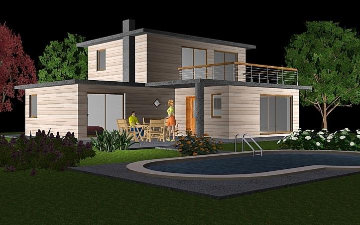 DeltaWood  Exemples de maisons modulaire BBC ossature  ~ Maison Modulaire Bois