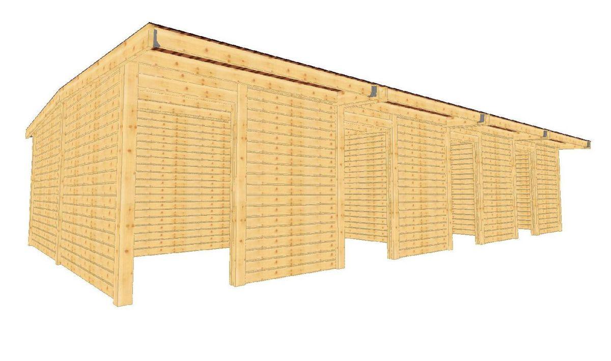 Box a chevaux en kit pas cher en madriers bois massif box for Site pour plan a trois