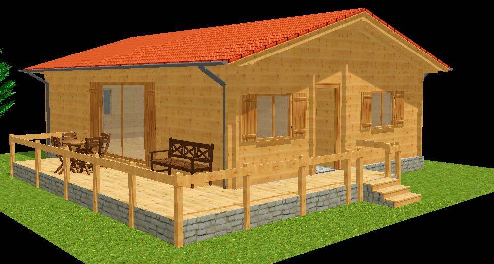 maisons en madriers bois autoconstruction bois. Black Bedroom Furniture Sets. Home Design Ideas