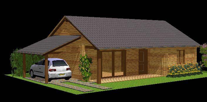 Votre maison en madriers bois for Kit maison metallique