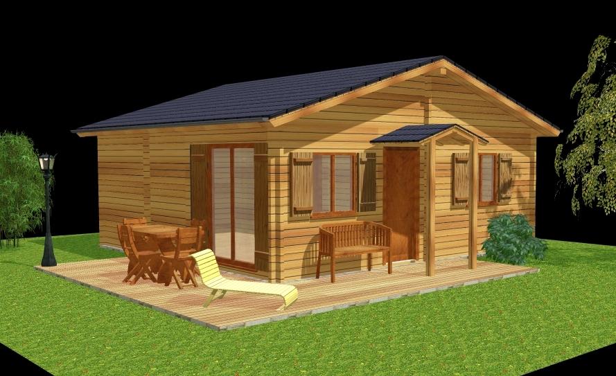 Deltawood promotion maisons madriers bois maison for Prix d une maison en kit