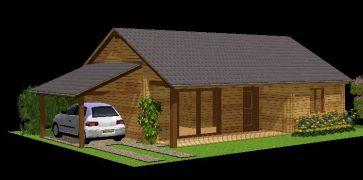 Kit maison en madriers bois massif autoconstruction de for Kit maison ossature metallique