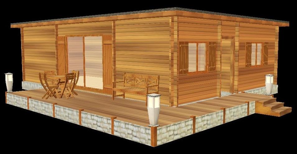 Deltawood constuction de maisons a ossature bois maison contemporaine bois - Maison en kit prix discount ...