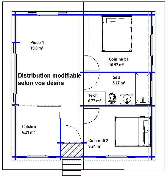 plan maison f2 gratuit