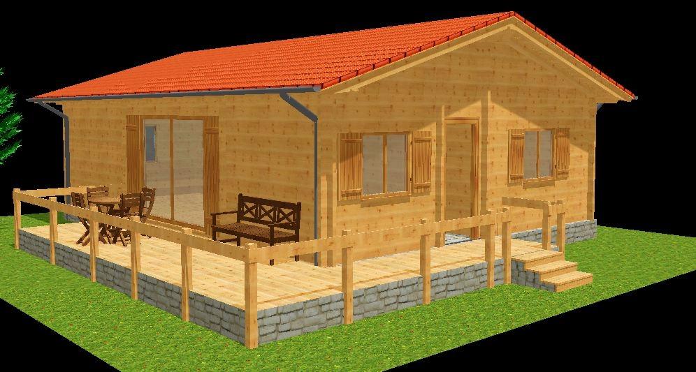 exemples de prix de maisons bois. Black Bedroom Furniture Sets. Home Design Ideas