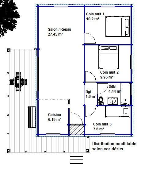 Exemples de prix de maisons bois - Plan de maison modulaire ...